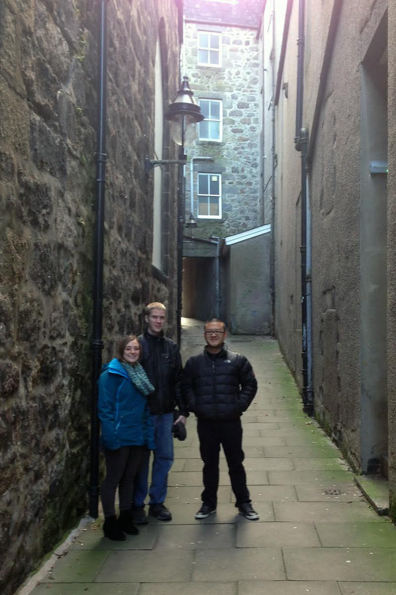 Christy Rose, Dan Karcher, and Joo Won Park in Scotland